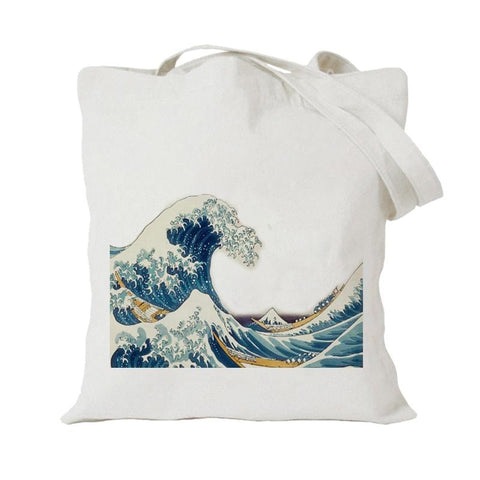GREAT WAVE TOTE BAG