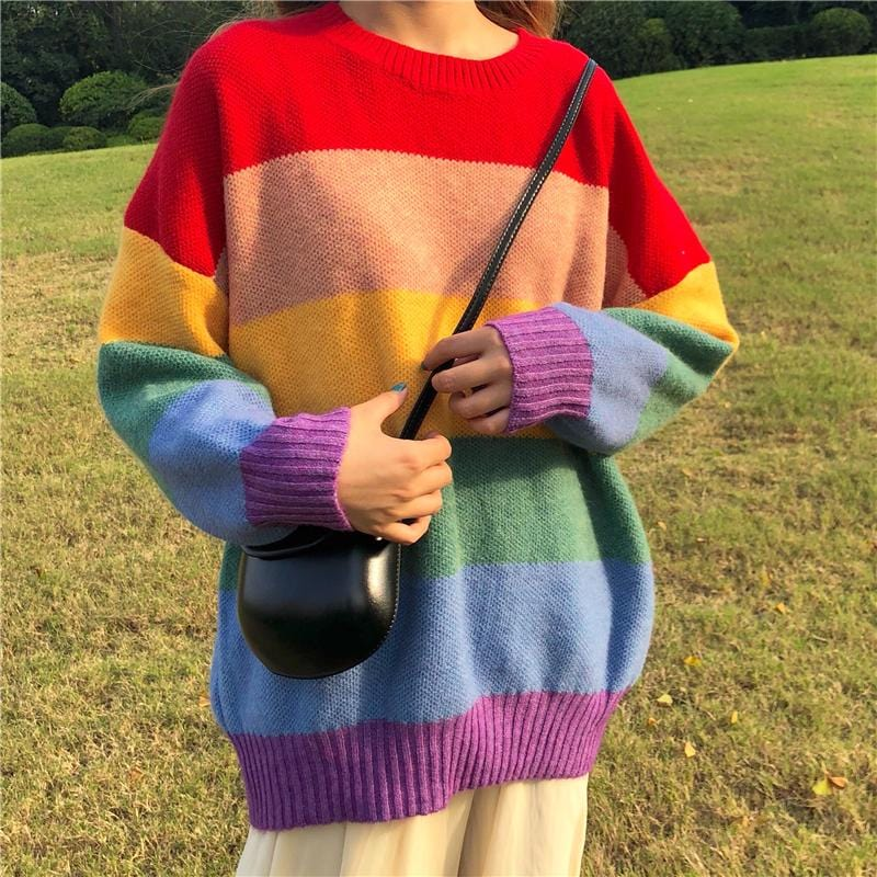 RAINBOW KNITTED