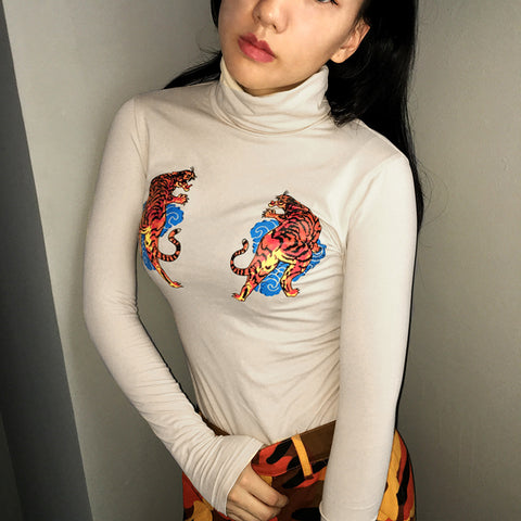 TIGER TURTLENECK
