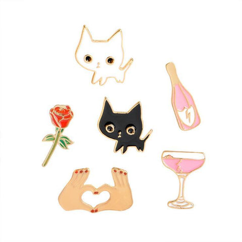 DATE NIGHT PINS (SET/6PCS)