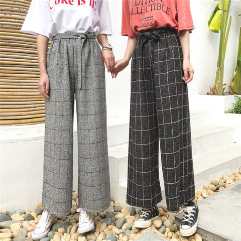 WIDE GRID PANTS