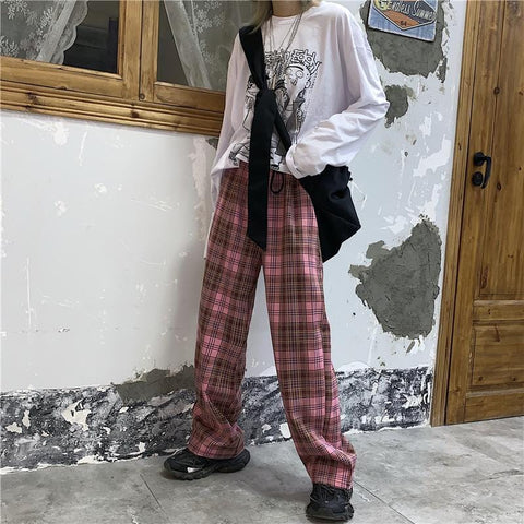 HARAJUKU VINTAGE PLAID PANTS
