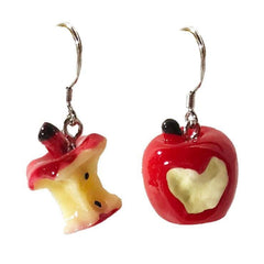 ASYMMETRICAL APPLE EARRINGS