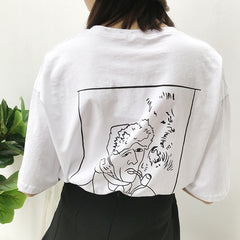 VAN GOGH SMOKING PRINT TOPS