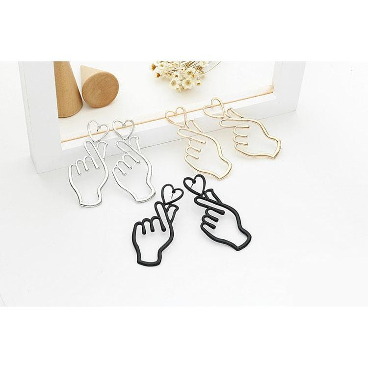 THAN HEART EARRINGS(3 pairs)