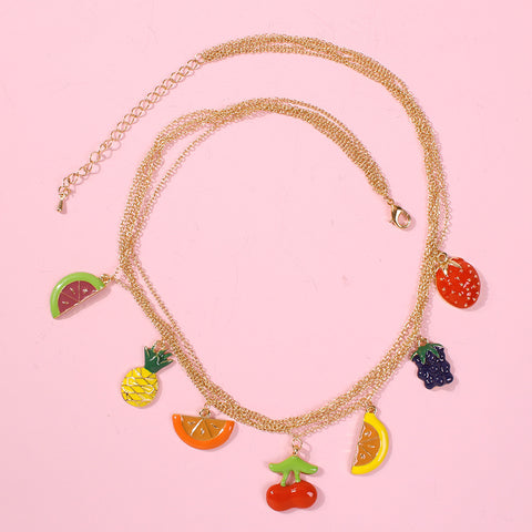 MULTI LAYER FRUIT NECKLACE