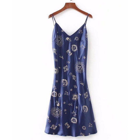 ZODIAC SATIN DRESS