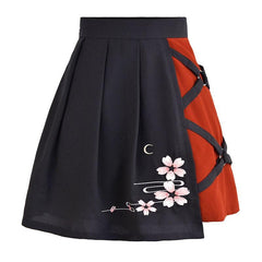 BLOCK COLOR IRREGULAR SKIRT