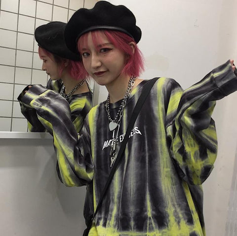 HARAJUKU TIE-DYED LONG SLEEVE T-SHIRT
