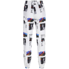 ILLUSTRATION STITCHING PRINT PANTS