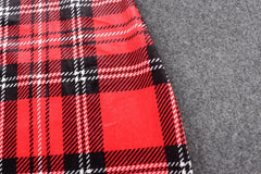 RETRO PLAID SLIM SPLIT DRESS
