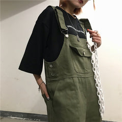 VINTAGE LOOSE OVERALLS