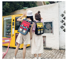 3D TWO-DIMENSIONAL COMICS BACKPACK