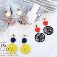FRINGED CIRCLE EARRINGS (3pairs)