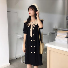 BOW TIE DOLL COLLAR DRESS