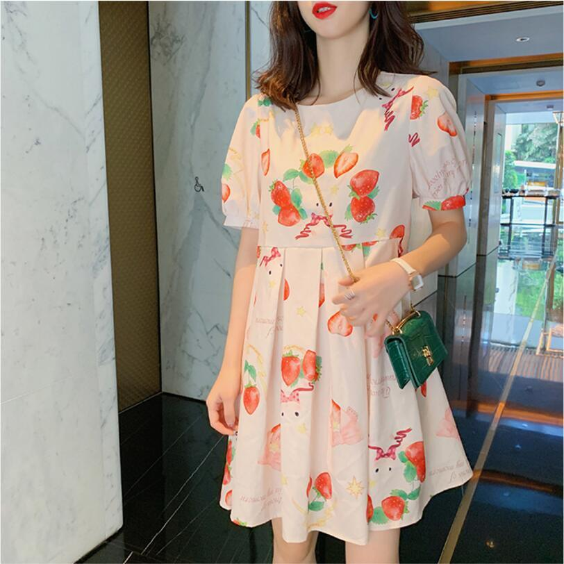 STRAWBERRY PRINTED DRESS