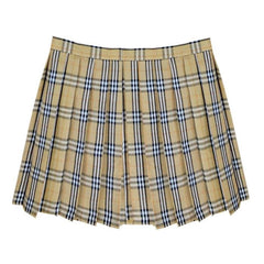 OLIVE GRID TENNIS SKIRT