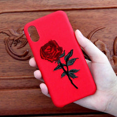 ROSE EMBROIDERY SOFT CASE (I6 I6+ I7 I7+)