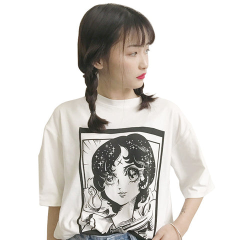 CARTOON GIRL TOP