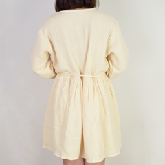APRICOT SIMPLE LOOSE DRESS