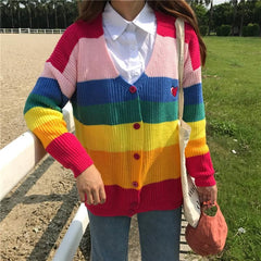 RAINBOW CARDIGAN KNITTED