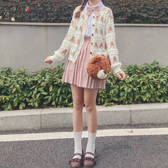BEAR HOLLOW CARDIGAN KNIT SWEATER