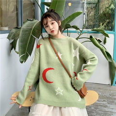 STAR MOON LAZY SWEATER