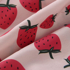 STRAWBERRY WRAP CROP TOP