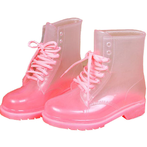 PINK CLEAR BOOTS (4.5-8.5)