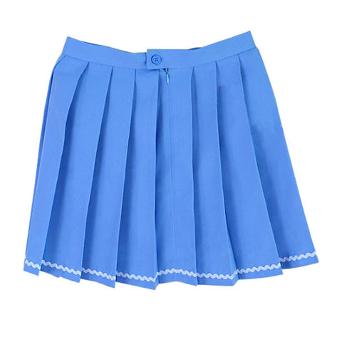 BLUE STRIPED TENNIS SKIRT