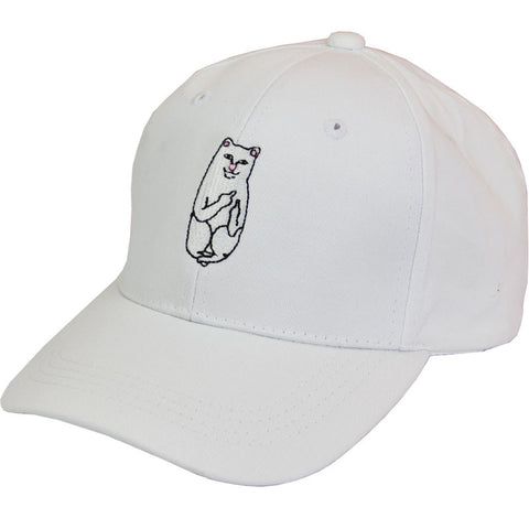 WHITE FUCK OFF CAT HAT