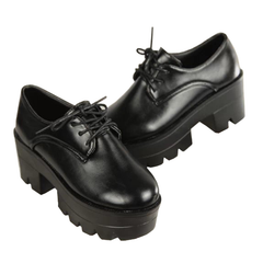 BLACK PLATFORM SHOES (4.5-8)