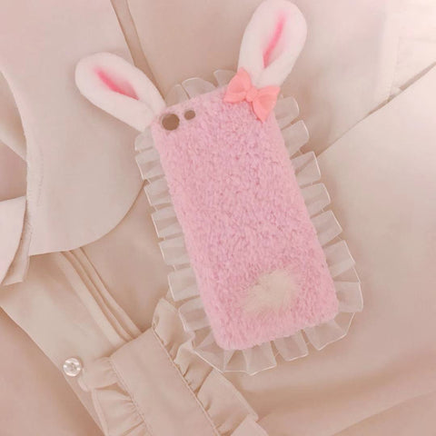 RABBIT EAR PLUSH IPHONE CASE