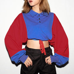 LOOSE STITCHING LONG SLEEVE SWEATER