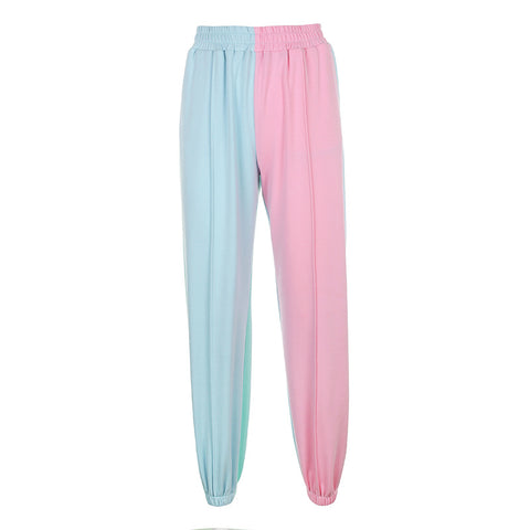 COLOR STITCHING CASUAL PANTS