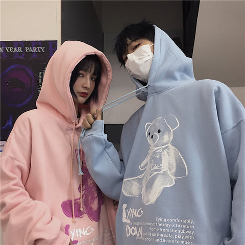 CARTOON BEAR HOODIE