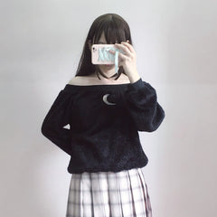 MOON OFF SHOULDER SWEATER
