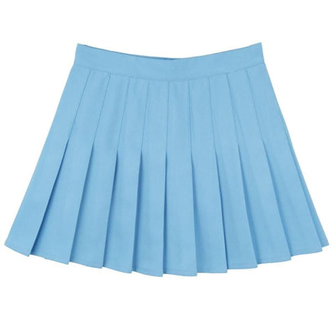LIGHT BLUE PLEATED SKIRT