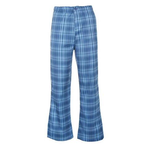 BLUE PLAID FLARE PANTS