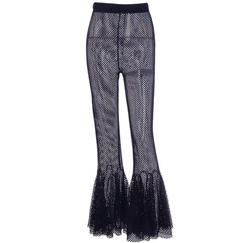 FISHNET FLARE PANTS