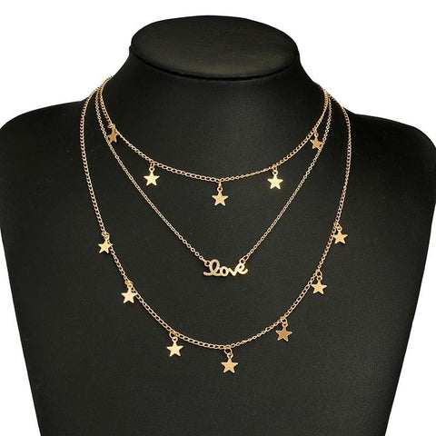 STAR LOVE LAYERED NECKLACE