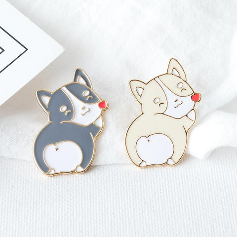 CUTE PUPPY HEART PIN (2PCS)