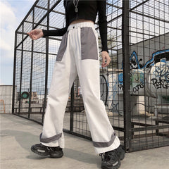 STITCHING COLOR LOOSE PANTS