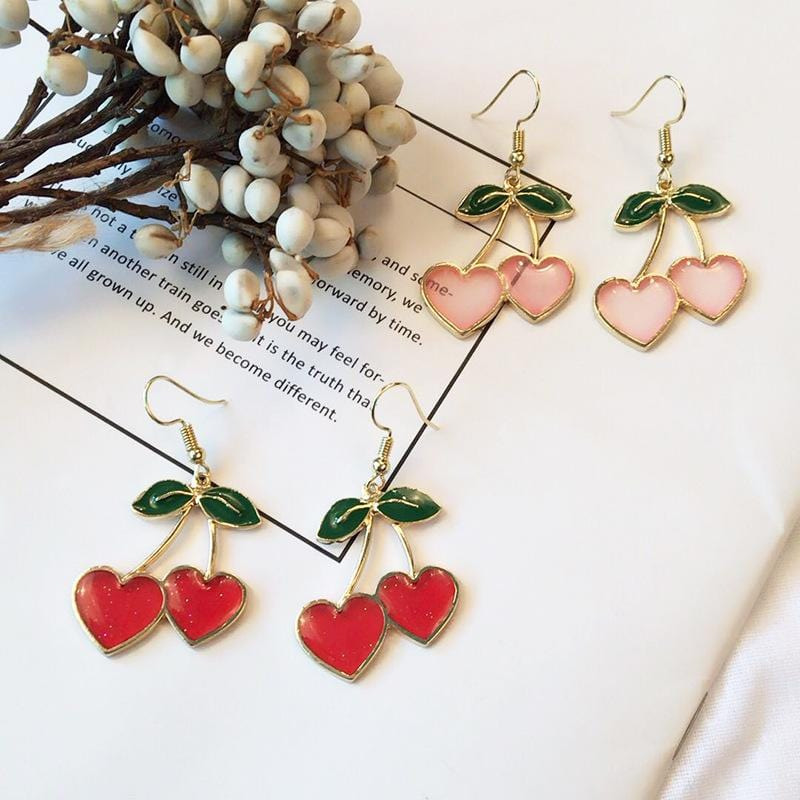 CHERRY EARRINGS (2pairs)