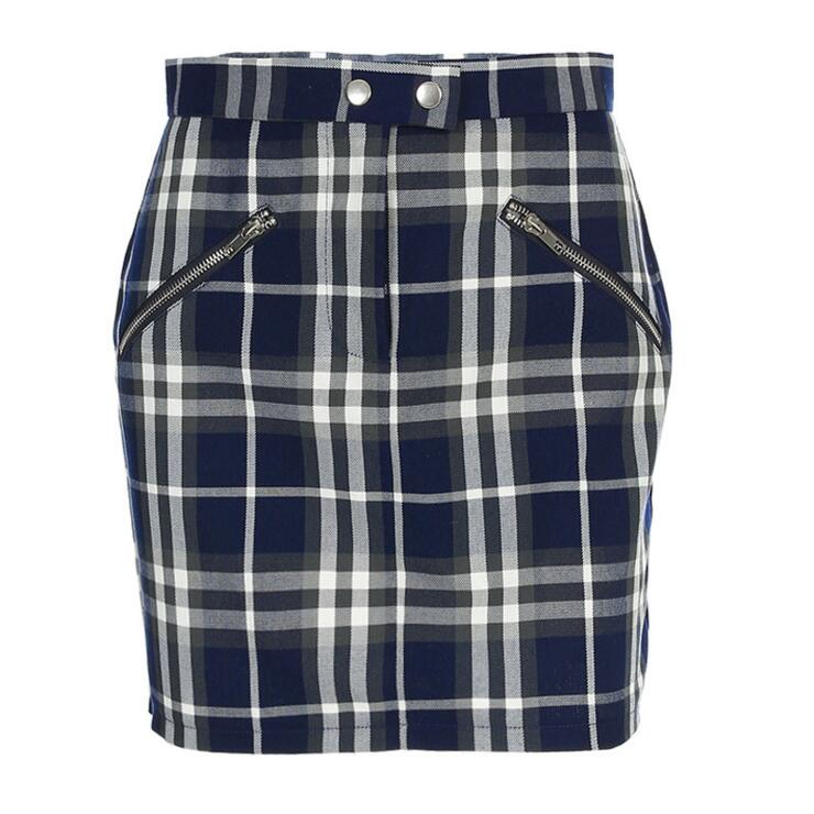 ZIP UP SCHOOL GIRL SKIRT