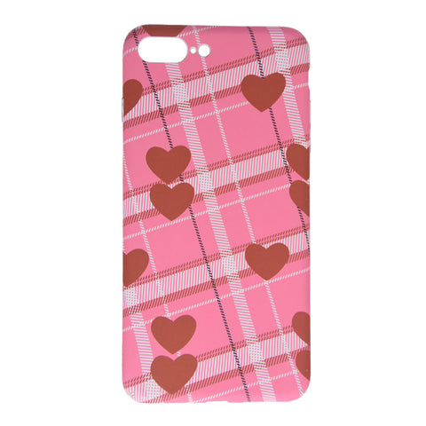 RETRO RED GRID HEART CASE (I6 I6+ I7 I7+)