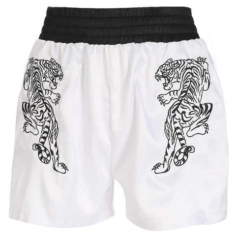 THGER WHITE EMBROIDERY SHORTS