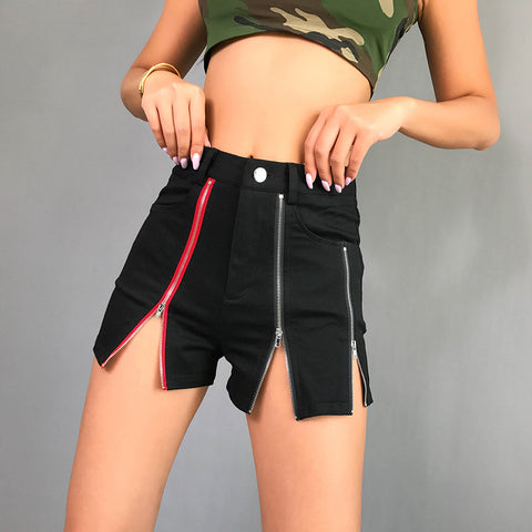 CASUAL SKINNY HIGH WAIST SHORTS