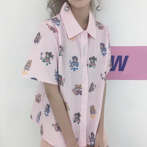 PINK SAILOR MOON SHIRT