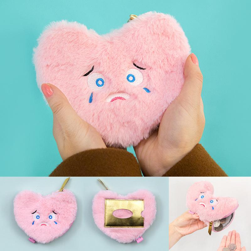 MY FUZZY HEART PURSE